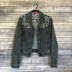 Tinseltown Aztec Denim Jacket